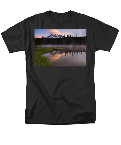 Rainier Lenticular Sunrise T-Shirt by Mike  Dawson