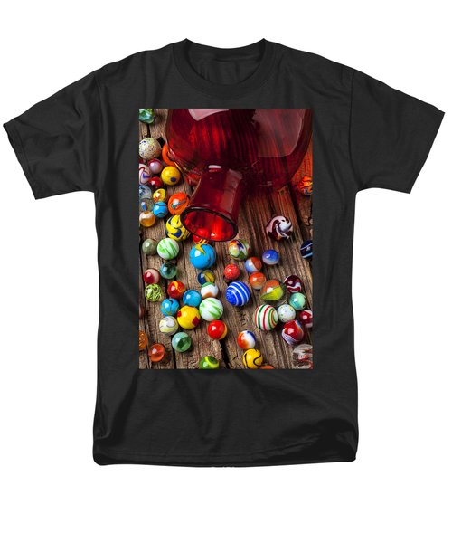 Red jar with marbles T-Shirt by Garry Gay