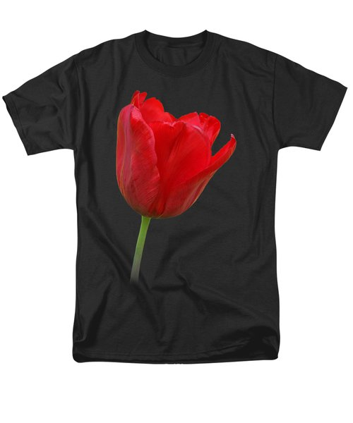 Red Tulip Open Men's T-Shirt  (Regular Fit) by Gill Billington