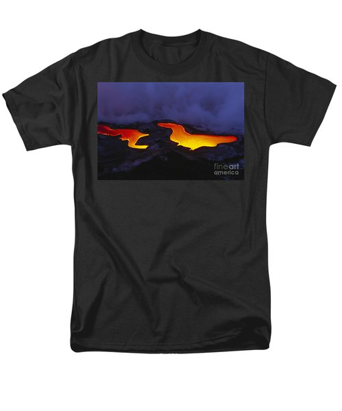 River Of Lava Men's T-Shirt  (Regular Fit) by Peter French - Printscapes