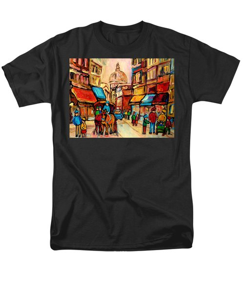 RUE ST. PAUL OLD MONTREAL STREETSCENE T-Shirt by CAROLE SPANDAU