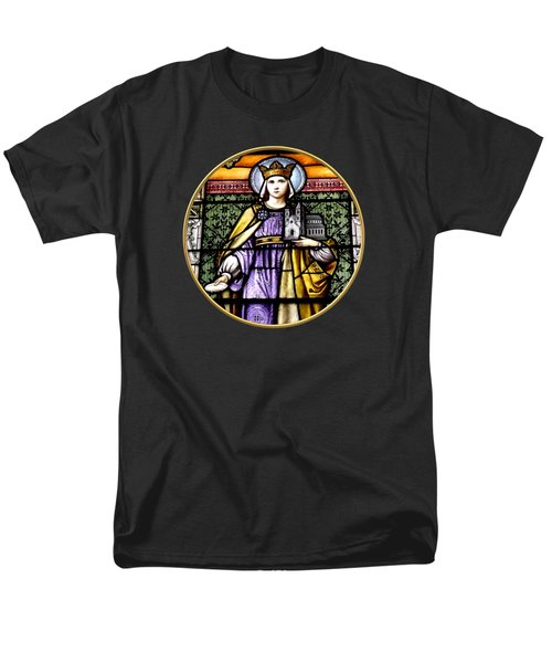 Saint Adelaide Stained Glass Window In The Round Men's T-Shirt  (Regular Fit) by Rose Santuci-Sofranko