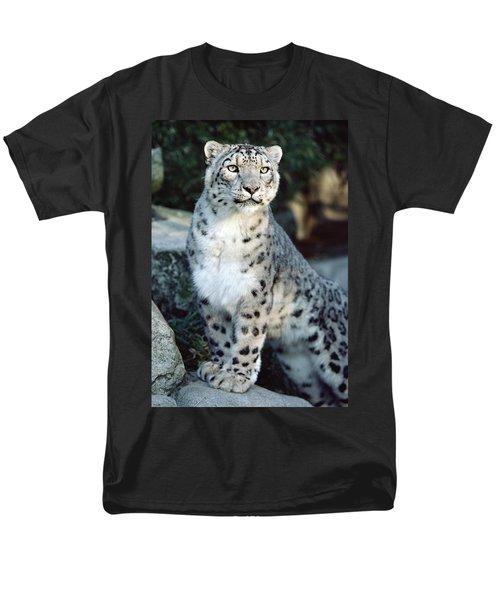 Snow Leopard Uncia Uncia Portrait T-Shirt by Gerry Ellis