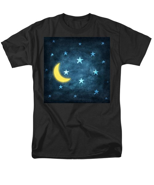 stars and moon drawing with chalk T-Shirt by Setsiri Silapasuwanchai