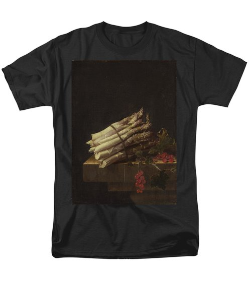 Still Life With Asparagus And Red Currants Men's T-Shirt  (Regular Fit) by Adriaen Coorte