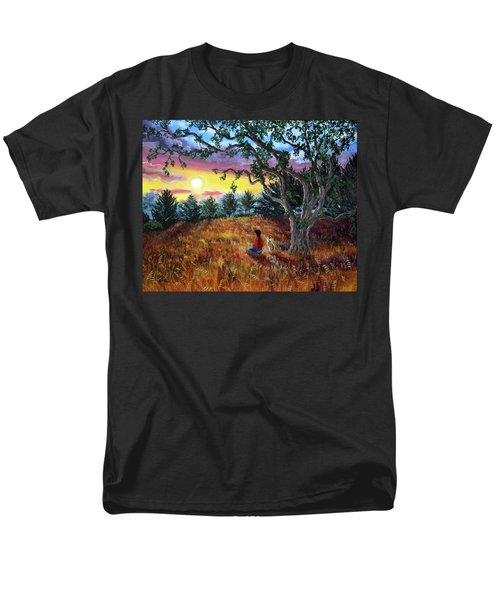 Summer Sunset Meditation T-Shirt by Laura Iverson