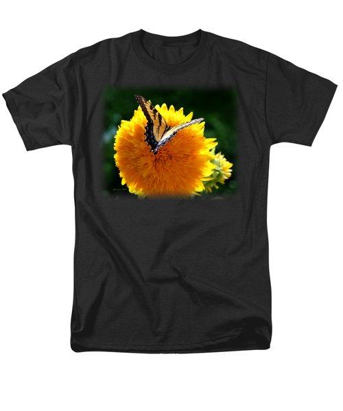 Sunflower Butterfly Men's T-Shirt  (Regular Fit) by Korrine Holt