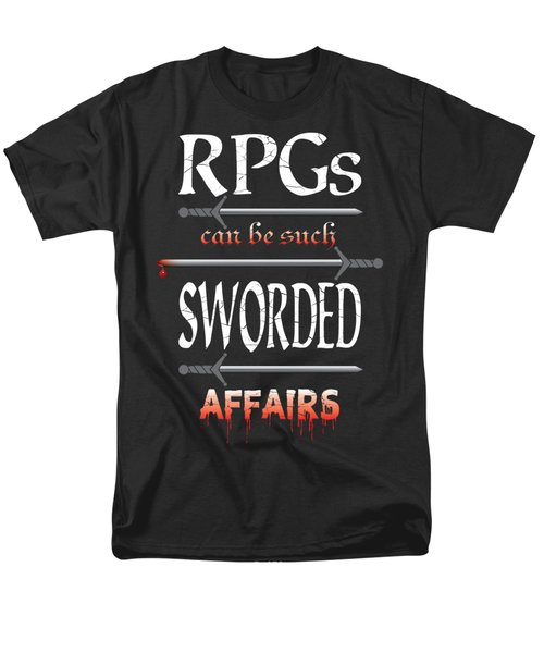 Sworded Affairs Men's T-Shirt  (Regular Fit) by Jon Munson II