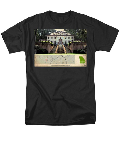 The Hunger Games Catching Fire Movie Location And Map Men's T-Shirt  (Regular Fit) by Pablo Franchi