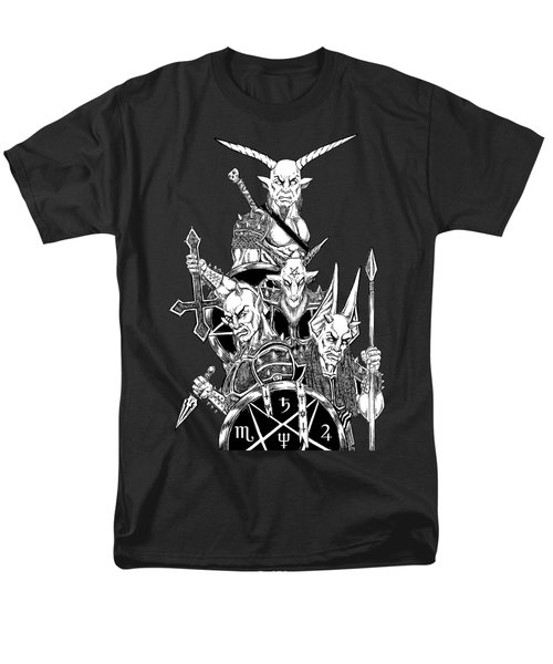 The Infernal Army Black Version Men's T-Shirt  (Regular Fit) by Alaric Barca