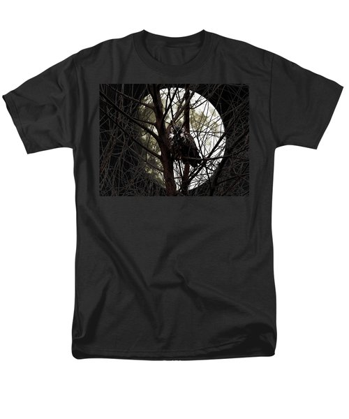 The Night Owl and Harvest Moon T-Shirt by Wingsdomain Art and Photography
