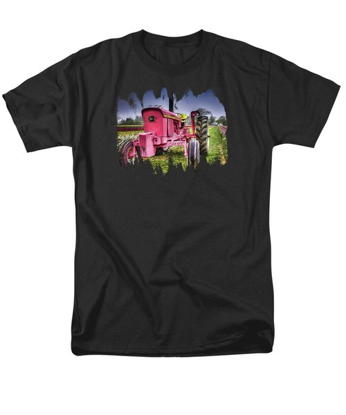 The Pink Tractor At The Wooden Shoe Tulip Farm Men's T-Shirt  (Regular Fit) by Thom Zehrfeld