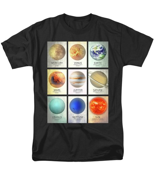 The Planets Men's T-Shirt  (Regular Fit) by Mark Rogan