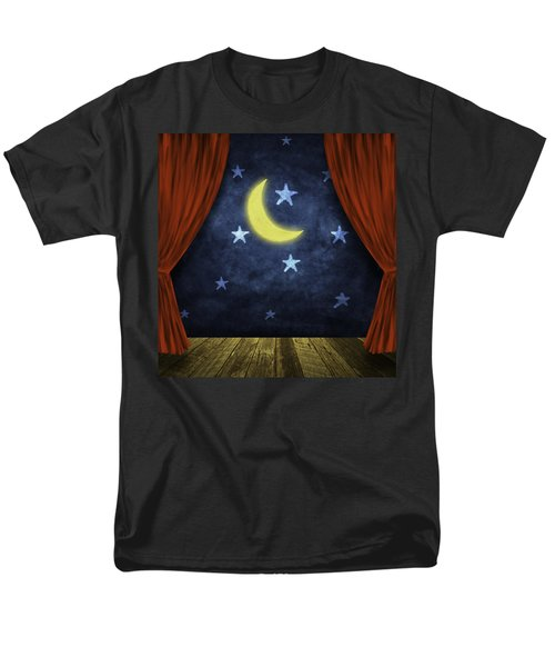 theater stage with red curtains and night background  T-Shirt by Setsiri Silapasuwanchai