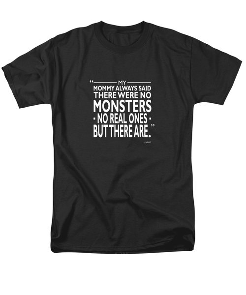 There Were No Monsters Men's T-Shirt  (Regular Fit) by Mark Rogan