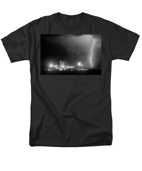 To The Right Budweiser Lightning Strike BW T-Shirt by James BO  Insogna