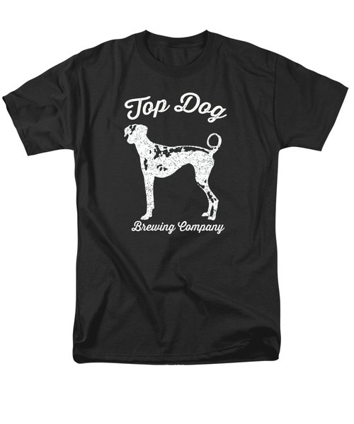 Top Dog Brewing Company Tee White Ink Men's T-Shirt  (Regular Fit) by Edward Fielding