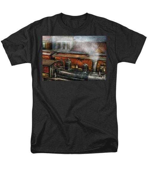 Train - Yard - The train yard II T-Shirt by Mike Savad