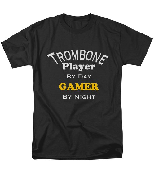 Trombone Player By Day Gamer By Night 5627.02 Men's T-Shirt  (Regular Fit) by M K  Miller