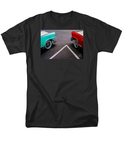 Men's T-Shirt  (Regular Fit) featuring the photograph Two 1958 Ford Crown Victorias by M G Whittingham