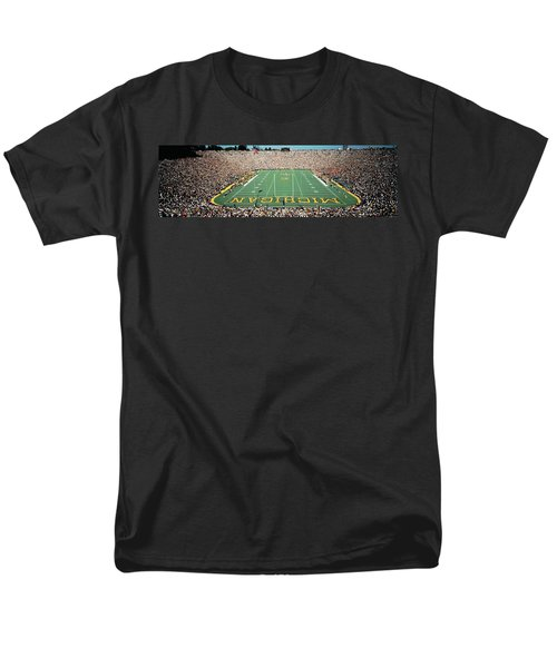 University Of Michigan Stadium, Ann Men's T-Shirt  (Regular Fit) by Panoramic Images