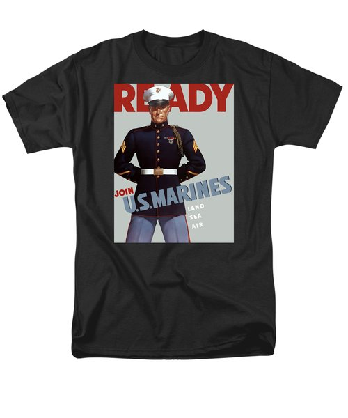US Marines - Ready T-Shirt by War Is Hell Store