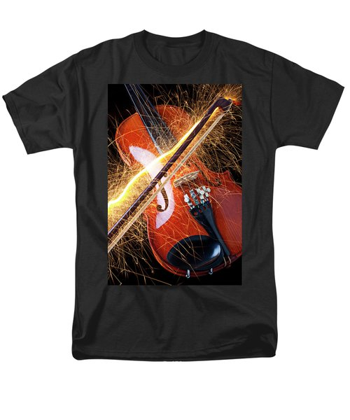 Violin with sparks flying from the bow T-Shirt by Garry Gay