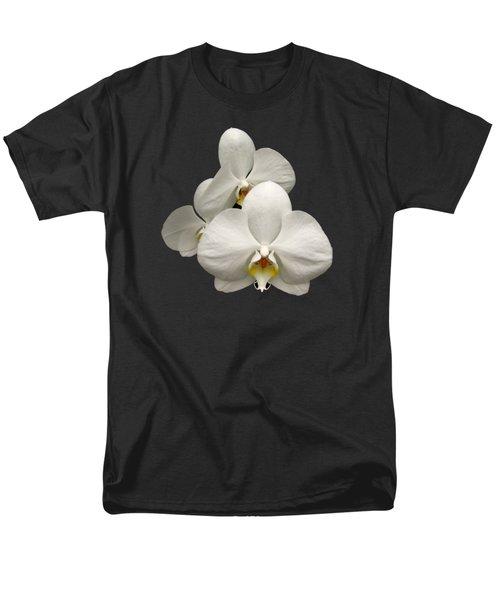 White Orchids Men's T-Shirt  (Regular Fit) by Rose Santuci-Sofranko