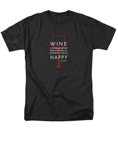 Wine Glasses 2 Men's T-Shirt  (Regular Fit) by Mark Rogan