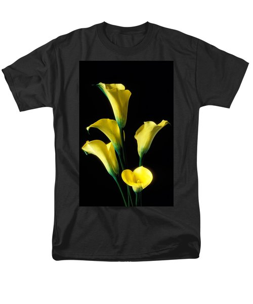 Yellow calla lilies  T-Shirt by Garry Gay