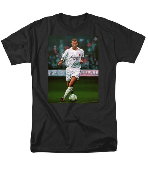 Zidane At Real Madrid Painting Men's T-Shirt  (Regular Fit) by Paul Meijering