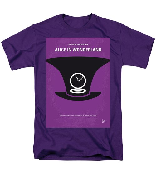 No140 My Alice in Wonderland minimal movie poster T-Shirt by Chungkong Art