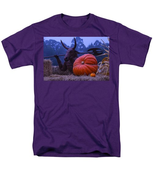 Pumpkin And Minotaur Men's T-Shirt  (Regular Fit) by Garry Gay