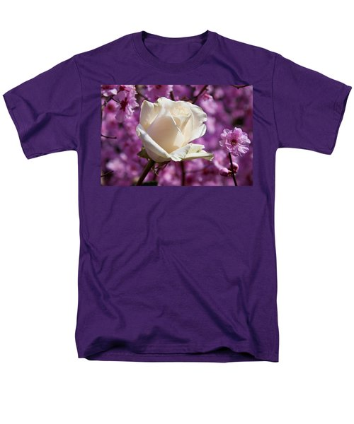 White rose and plum blossoms T-Shirt by Garry Gay