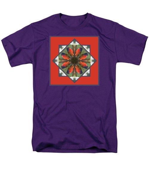 Painted Bunting Men's T-Shirt  (Regular Fit) by Rhoda Gerig