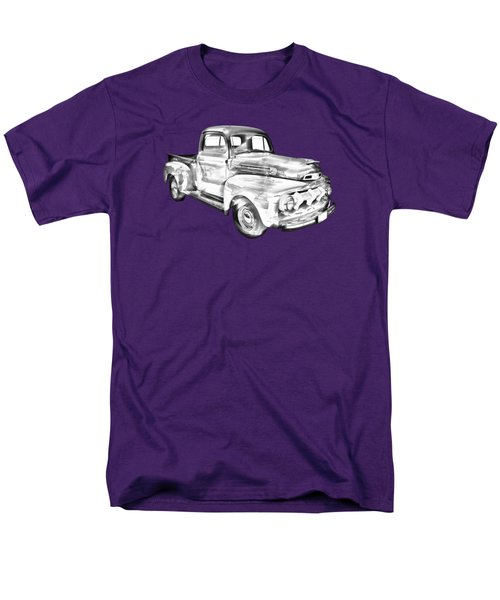 1951 Ford F-1 Pickup Truck Illustration  Men's T-Shirt  (Regular Fit) by Keith Webber Jr