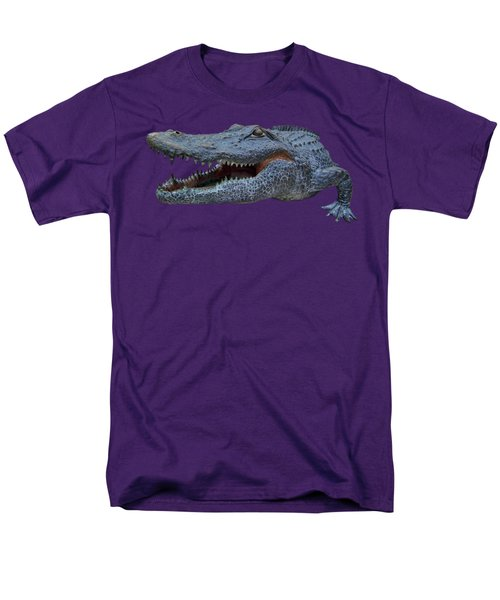1998 Bull Gator Up Close Transparent For Customization Men's T-Shirt  (Regular Fit) by D Hackett