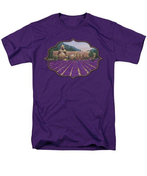 Abbaye Notre-dame De Senanque Men's T-Shirt  (Regular Fit) by Anastasiya Malakhova
