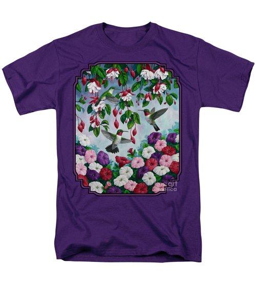 Bird Painting - Hummingbird Heaven Men's T-Shirt  (Regular Fit) by Crista Forest