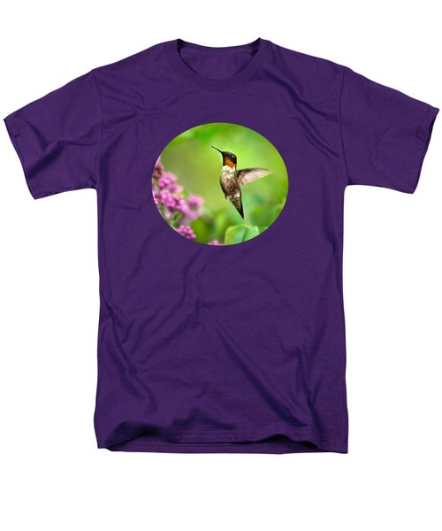 Welcome Home Hummingbird Men's T-Shirt  (Regular Fit) by Christina Rollo