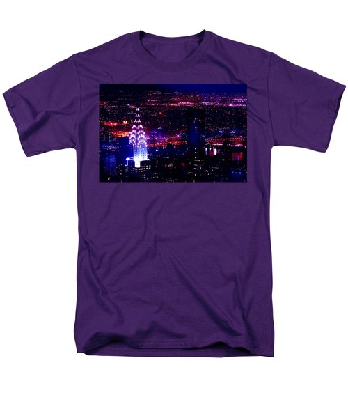 Beautiful Manhattan Skyline Men's T-Shirt  (Regular Fit) by Az Jackson