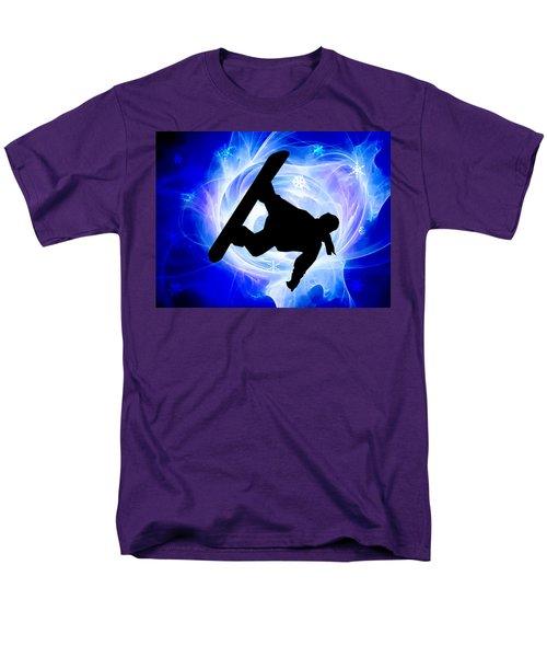 Blue Swirl Snowstorm T-Shirt by Elaine Plesser
