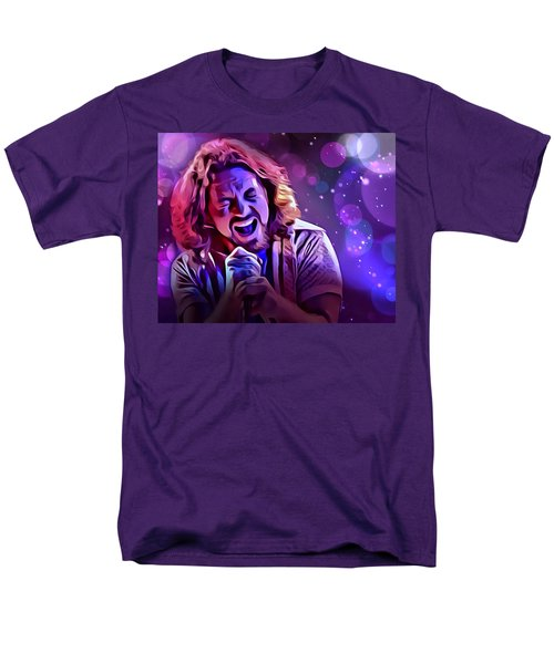 Eddie Vedder Portrait Men's T-Shirt  (Regular Fit) by Scott Wallace