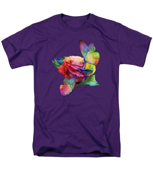 Healing Rose Men's T-Shirt  (Regular Fit) by Carol Cavalaris
