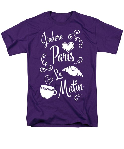 I Love Paris In The Morning Men's T-Shirt  (Regular Fit) by Antique Images