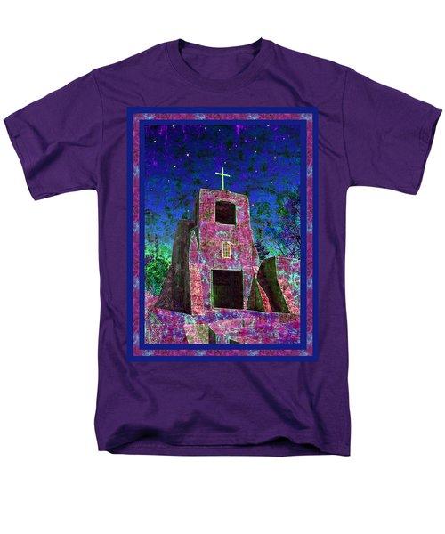 Night Magic San Miguel Mission T-Shirt by Kurt Van Wagner