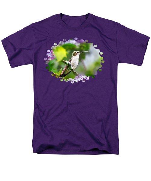 Ruby-throated Hummingbird-1 Men's T-Shirt  (Regular Fit) by Christina Rollo