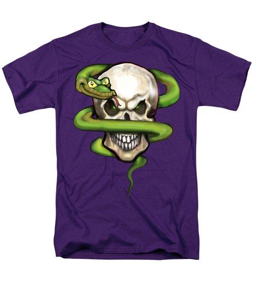 Serpent Evil Skull Men's T-Shirt  (Regular Fit) by Kevin Middleton