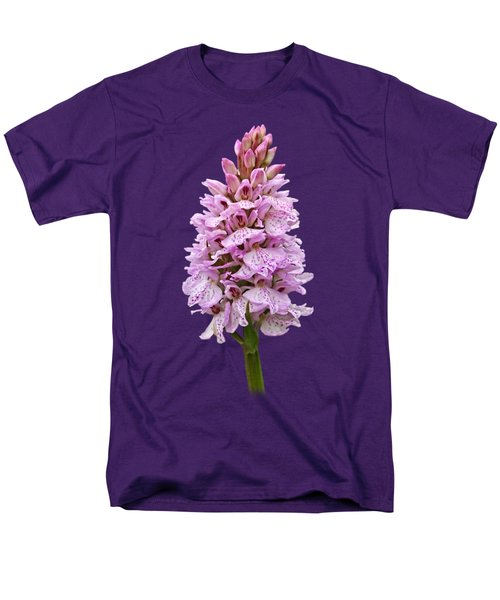 Wild Pink Spotted Orchid Men's T-Shirt  (Regular Fit) by Gill Billington