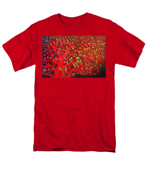 About 180 Orange Bellied Parrots  Men's T-Shirt  (Regular Fit) by Charlie Baird